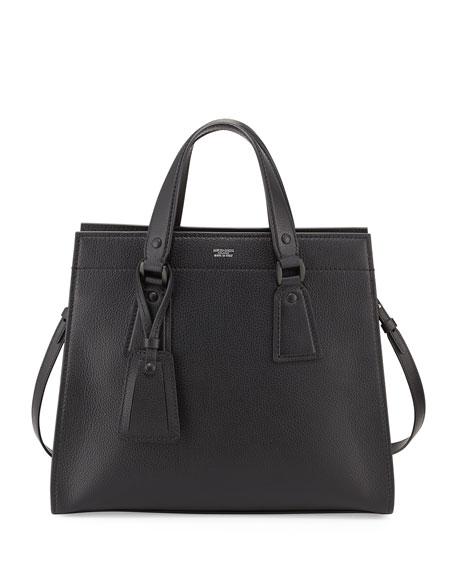 Giorgio Armani Vitello Leather Two-Handle Bag 8945c9dfcef24