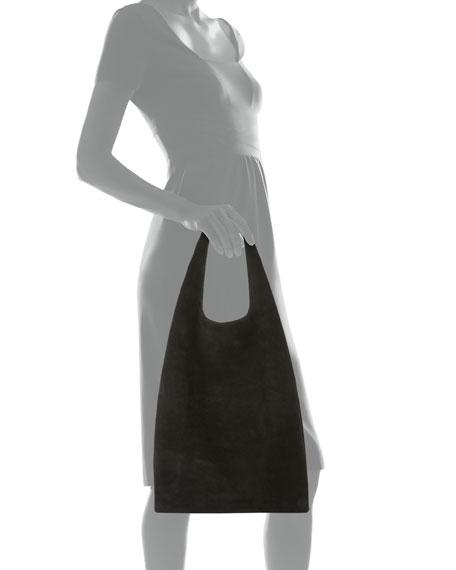 Suede Hayward Shopper Tote Bag, Black