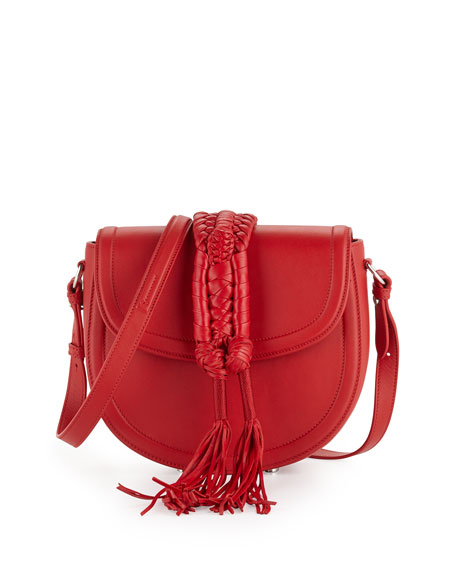 Altuzarra Ghianda Saddle Knot Small Leather Bag, Red