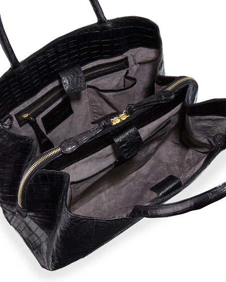Large New Work Crocodile Tote Bag