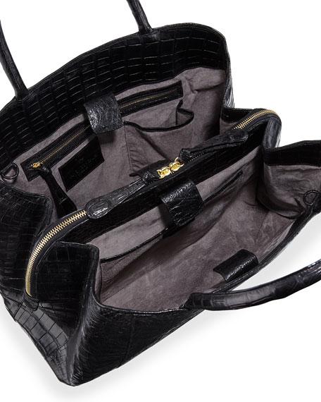 Large New Work Crocodile Tote Bag