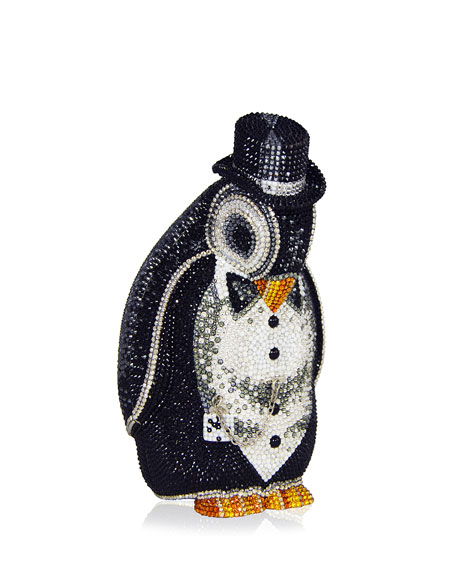 Judith Leiber Couture Alfred Penguin Evening Clutch Bag,
