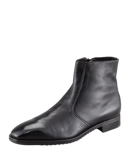 Side Zip Dress Demi Boot, Black