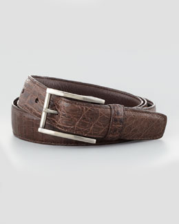 Crocodile Belt, Brown