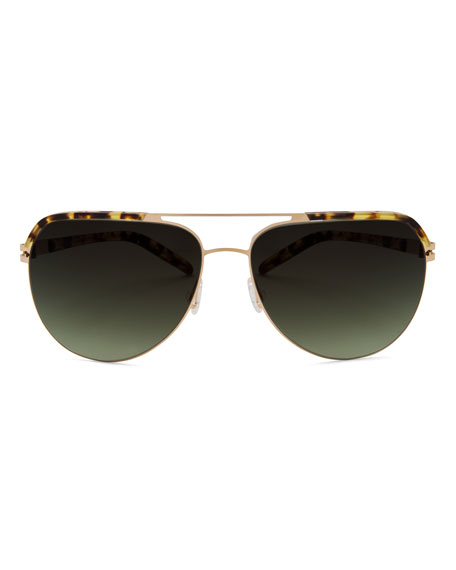 Oversized Square Navigator Sunglasses, Navy