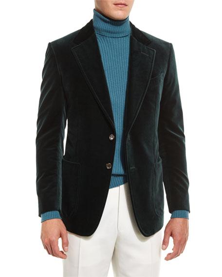 Shelton Base Velvet Sport Jacket, Teal