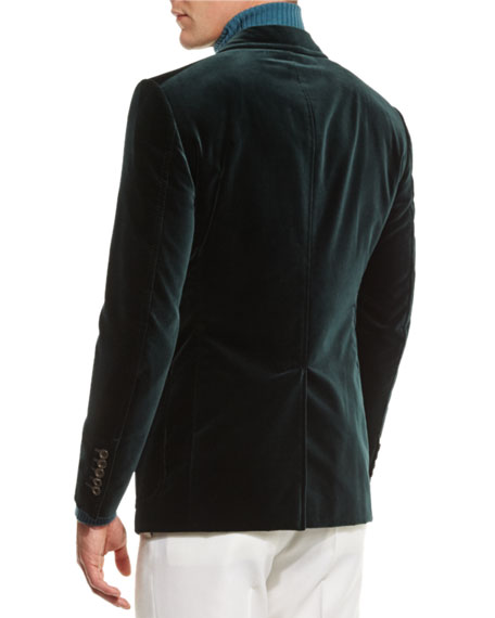 Shelton Base Velvet Sport Jacket, Teal