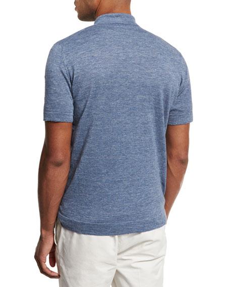 Linen-Cotton Polo Shirt