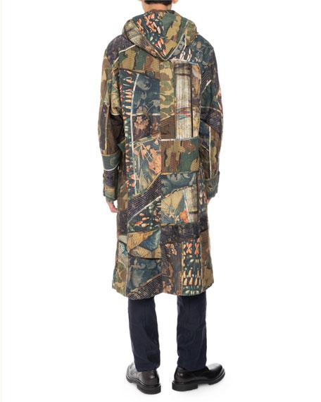 Vaughn Camo Patchwork Coat, Khaki
