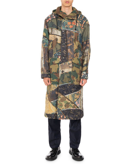 Vaughn Camo Patchwork Coat, Khaki
