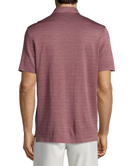 Herringbone polo shirts
