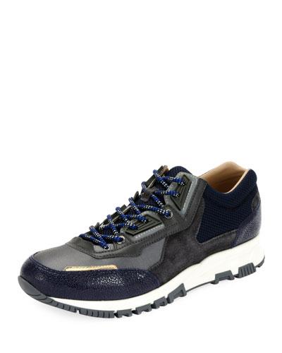 Men's Colorblock Mesh Trainer Sneakers