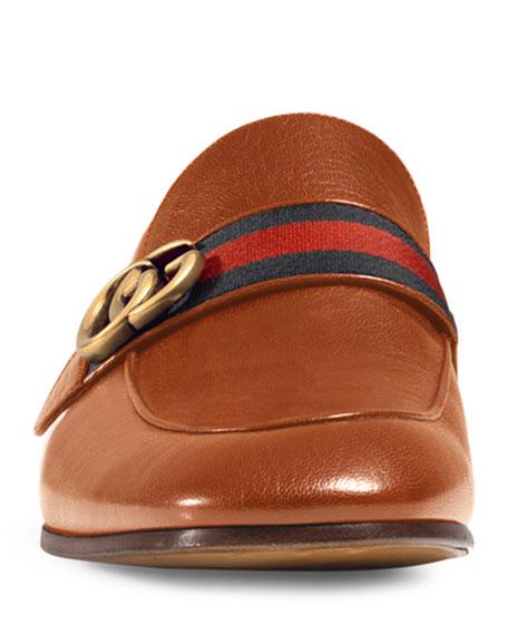 e9221f0f7fa6d Gucci Men's Donnie Web Leather Loafers