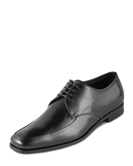Polished Leather Oxford, Black