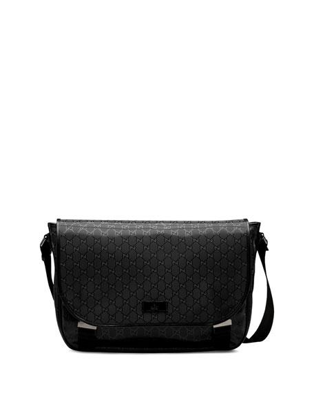 256149fd20f5 Gucci GG Imprime Flap Messenger Bag