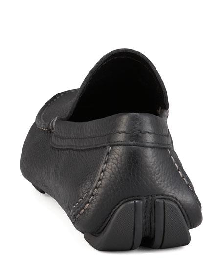 Muflone Leather Driver, Black