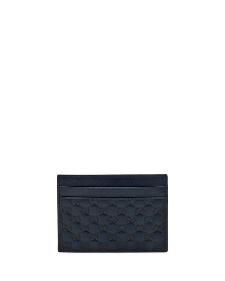 Micro Guccissima Card Case