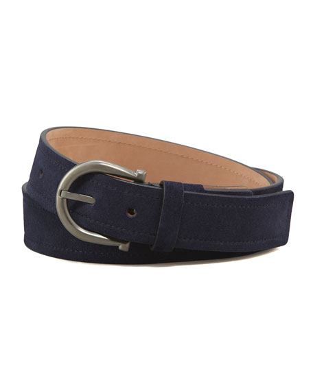 Royal Suede Gancini Belt