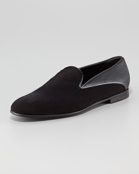 Velvet/Metallic Formal Shoe