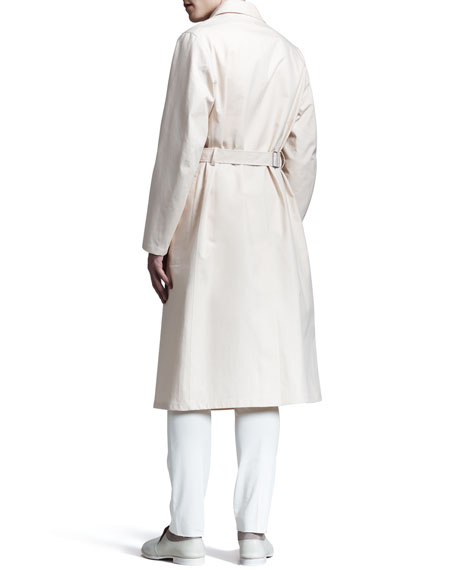 Long Single-Breasted Trenchcoat