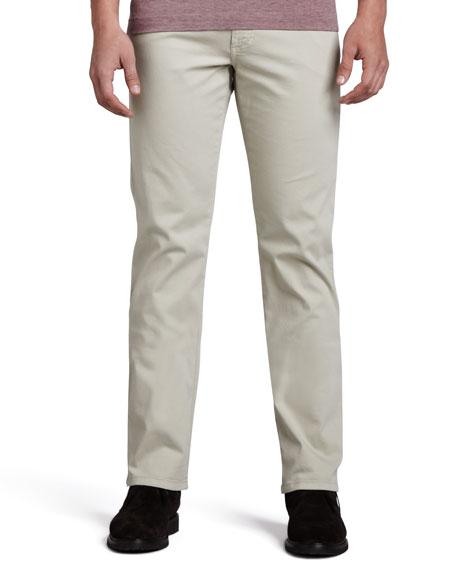 Five-Pocket Gabardine Twill Pants, Beige