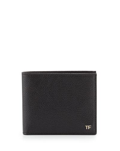 Leather Billfold Wallet, Black