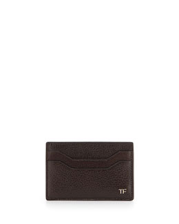 Leather TF Card Case, Brown
