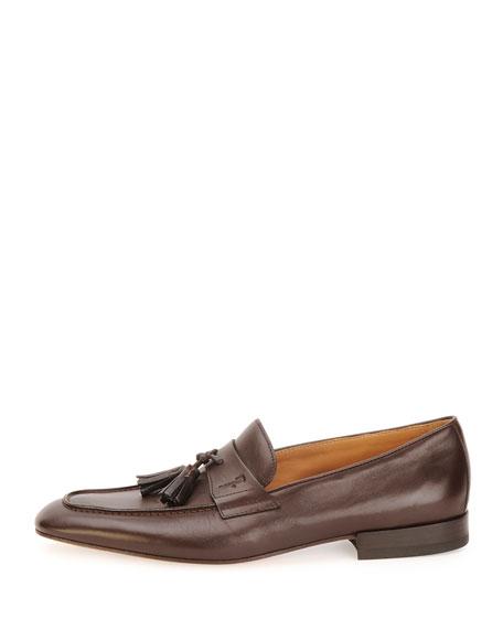 Napa Calfskin Tassel Loafer, Brown