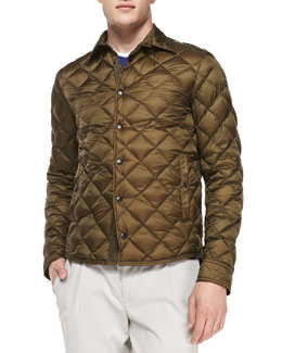 Frederic Diamond Quilted Jacket, Olivet