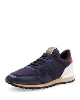 Rockrunner Mesh Sneaker, Navy