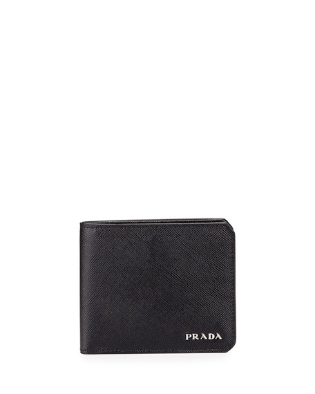 American Leather Billfold Wallet, Black