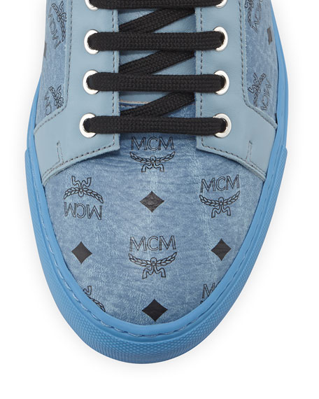 Monogrammed High-Top Sneaker, Denim