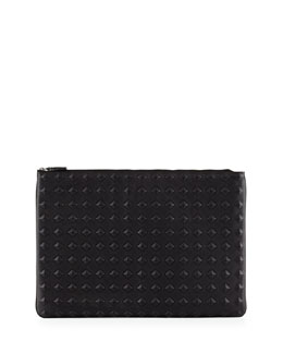 Tantris Leather Large Pouch, Black