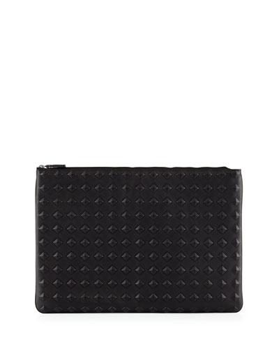 Tantris Leather Large Pouch, Black