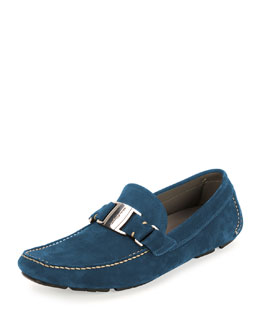Sardegna 9 Unlined Suede Driver, Blue