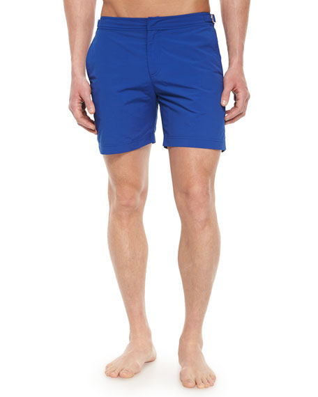 Bulldog Mid-Length Swim Trunks, Cobalt