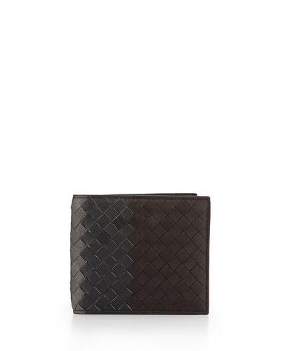 Tri-Color Woven Wallet