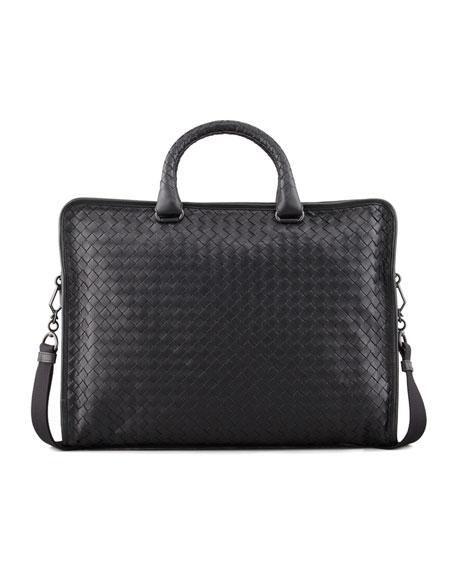 Soft Slim Woven Briefcase
