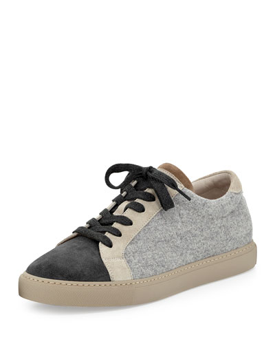 Flannel Two-Tone Sneaker, Gray