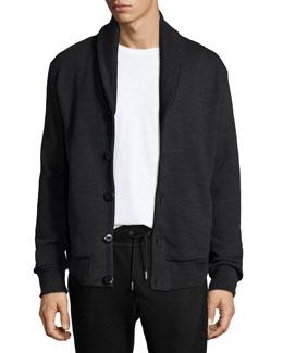 Gaspar Shawl-Collar Sweater Jacket, Black