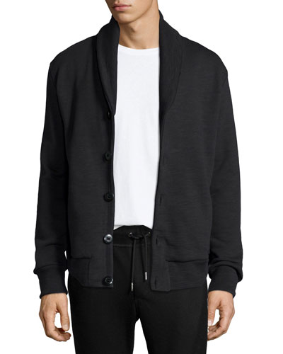 Gaspar Shawl-Collar Sweater Jacket, Black