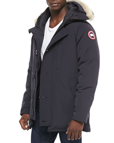 Canada Goose Chateau Parka w/Fur Trimmed Hood, Navy