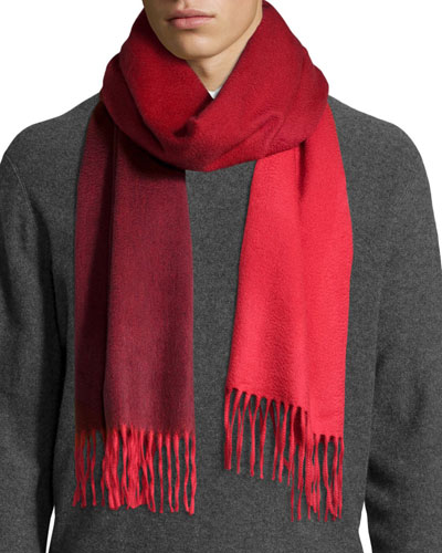 Ombre Cashmere Scarf w/Fringe