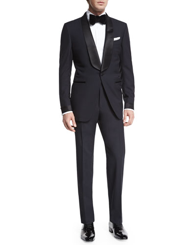 O'Connor Base Shawl-Collar Tuxedo, Navy