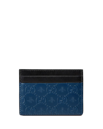 GG Alveare Card Case, Blue