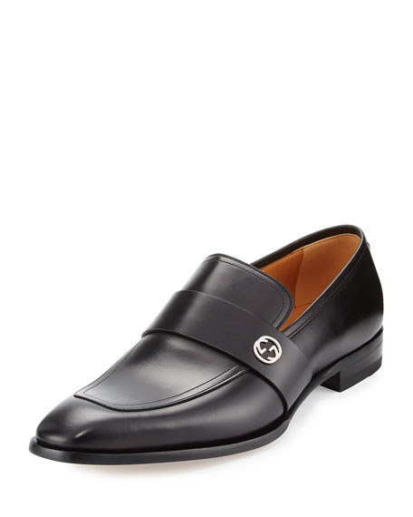 Gucci Broadwick Leather Loafer, Black