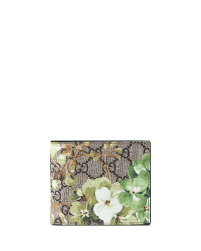 GG Blooms Canvas Bi-Fold Wallet, Multi