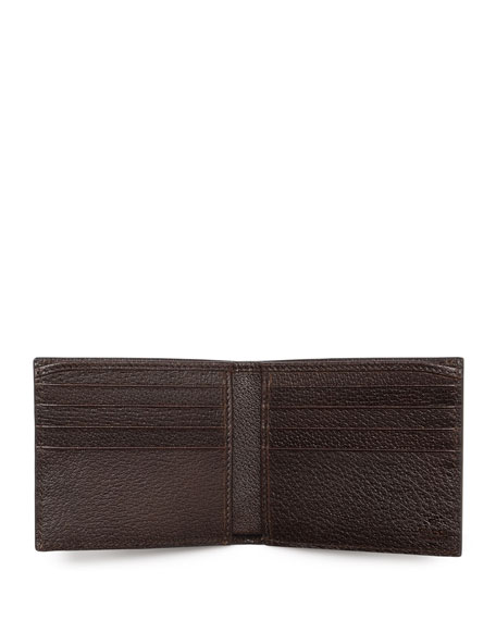 Web Leather Bi-Fold Wallet, Brown