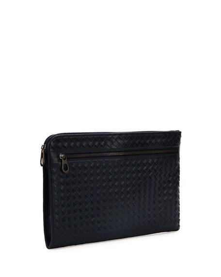 Woven Leather Portfolio Case