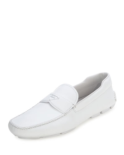 Leather Slip-On Loafer with Rubber Sole